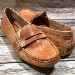 Frye Rebecca Penny Loafer Leather Driving Shoes